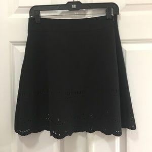 LOFT Size 0 A-Line Skirt NWT Laser Cut Out Hem 242